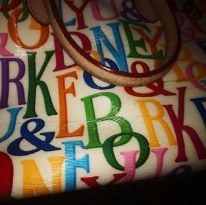 Dooney & Bourke Bags - Dooney Monogram bag, rainbow & strap